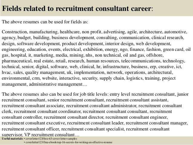 Recruiter Consultant Resume