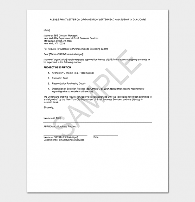Request For Approval Letter How To Write With Format   Samples