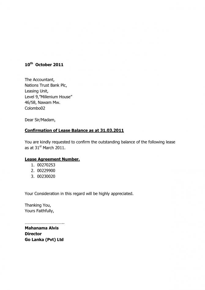 Request Lawer Audit Confirmation Letter Sample Balance Bank