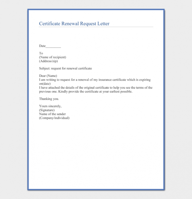 Request Letter For Certificate Format   Sample Letters