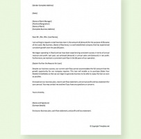 Business Loan Request Letter To Bank Manager