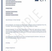 Employee Resignation Letter To Manager