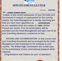 Job Offer Letter With Accommodation