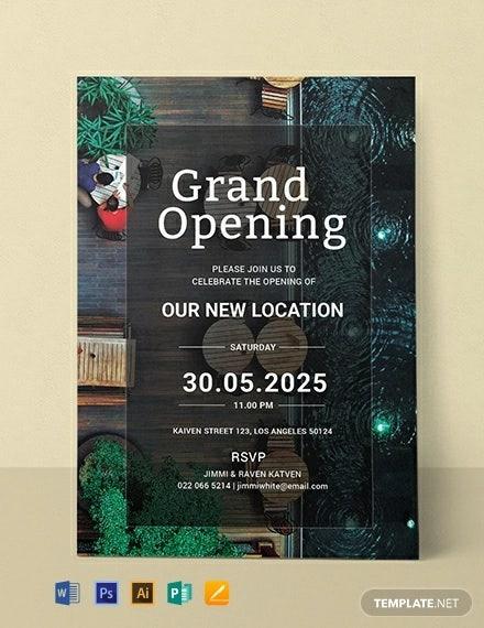 Restaurant Grand Opening Invitation Designs   Templates