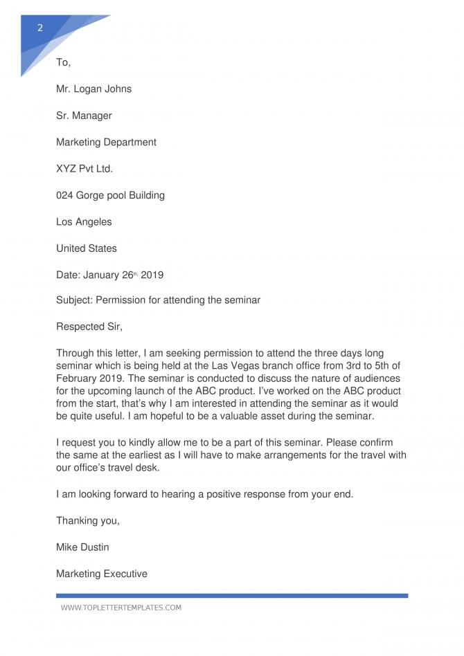 Sample Letter Asking Permission To Do Something Pdf