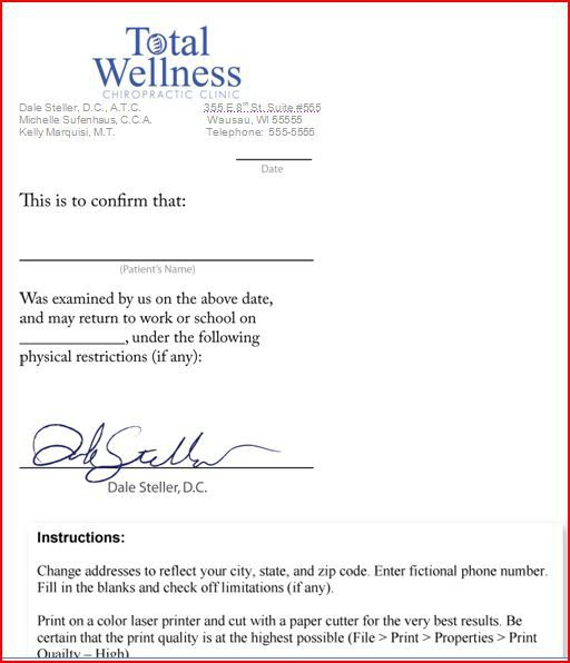 Sample Letter From Doctor About Medical Condition