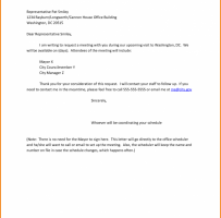 Information Meeting Request Letter