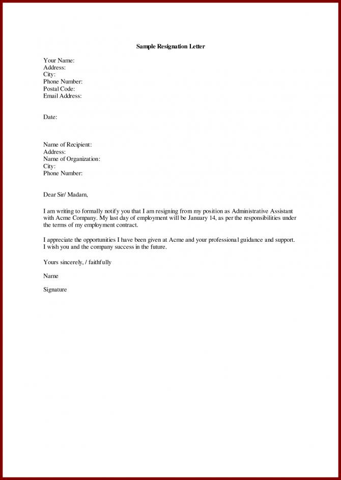 Sample Of Resignation Letter For Personal Reasons Capable Imagine