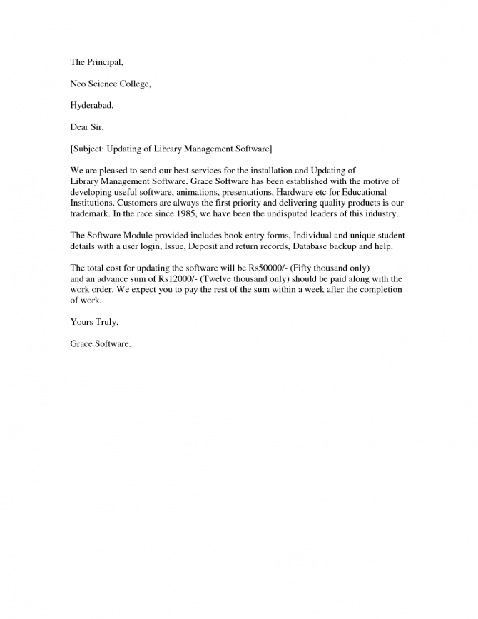 Sample Proposal Letter To A Principal Letter