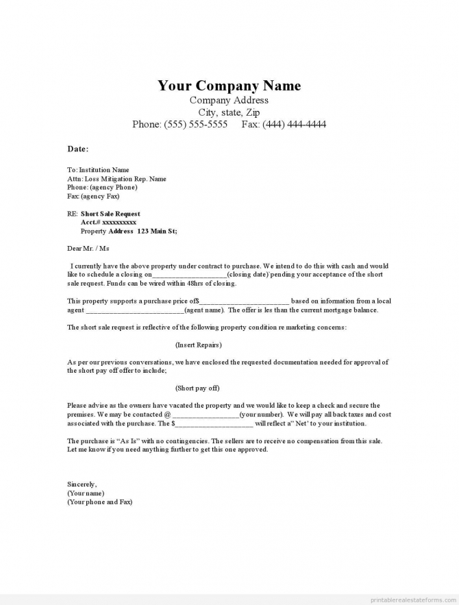 Sample Real Estate Offer Letter Template Example Pdf