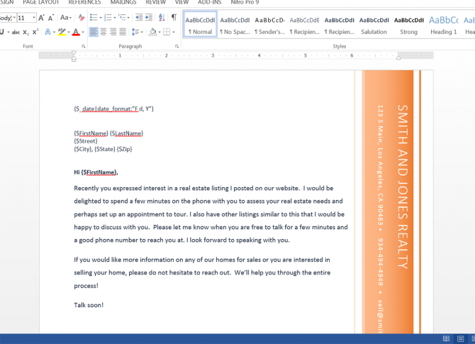 Send Real Estate Prospecting Letters From Contactually