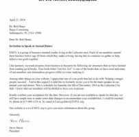 Simple Business Meeting Invitation Letter