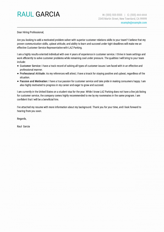 Social Work Cover Letter Template In