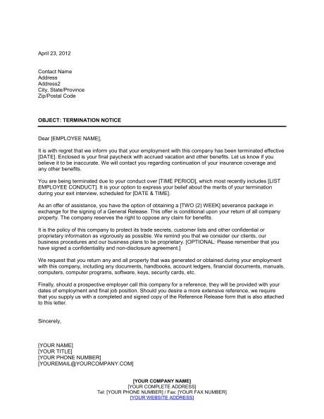 Software Termination Notice