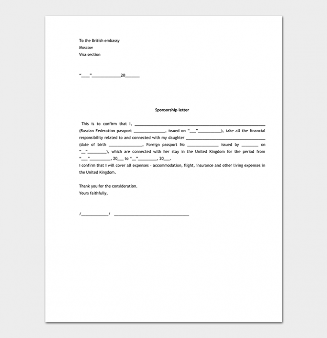 Sponsorship Request Letter Format With  Sample Letters