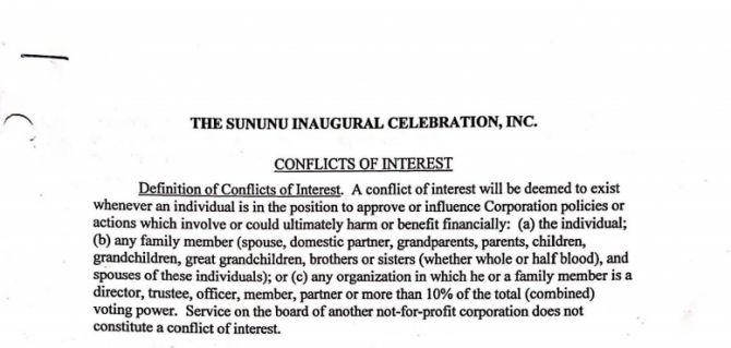 Sununu Inaugural Team Releases Conflict Of Interest Policy  Months