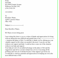 IT Support Thank You Letter