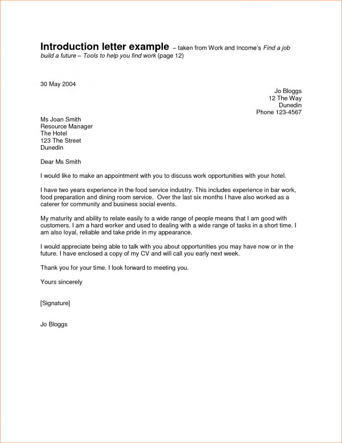 Valid Introduction Letter For A Job Sample You Can Download For