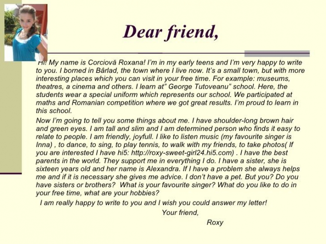Write A Friendly Letter To A Friend