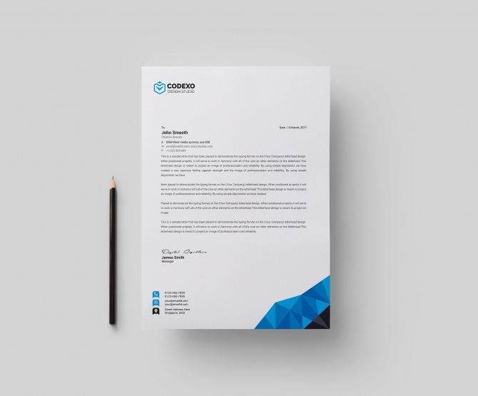 Zeus Professional Letterhead Template  Graphic Prime