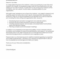 Education Executive Cover Letter