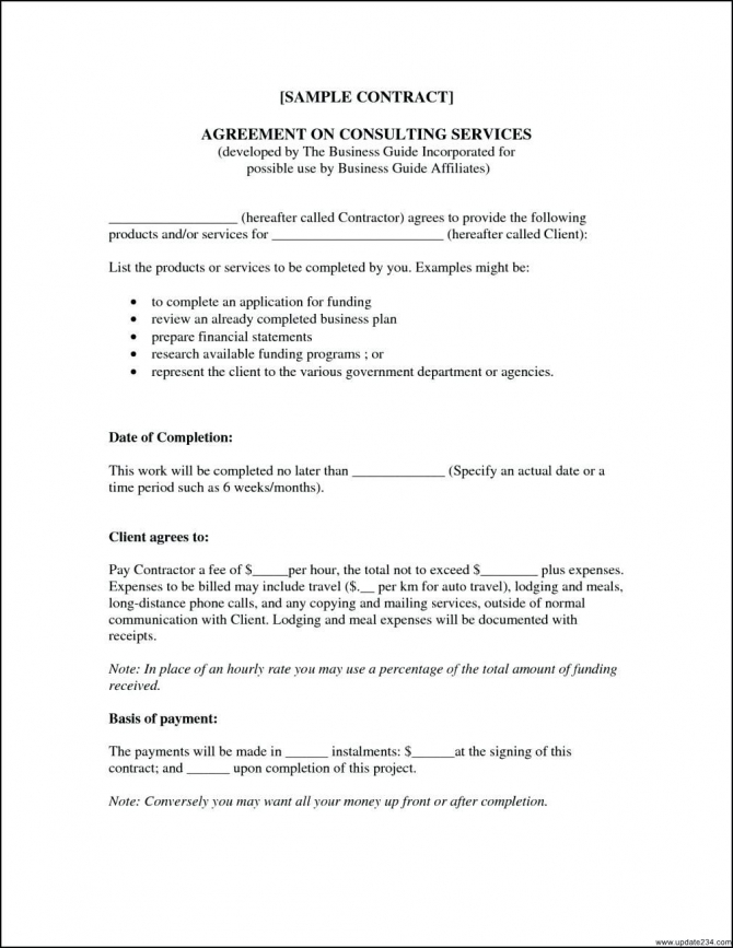 Agreement Of Consulting Services Document Sample
