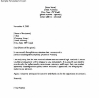 Claim Letter For Damaged Goods