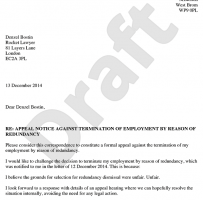 Appeal Letter For Work
