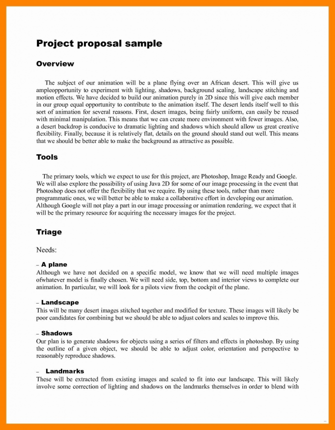 Art Project Proposal Example Pdf Lovely  Multimedia Project
