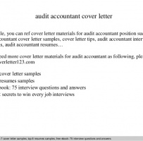 Accountant Auditor Cover Letter