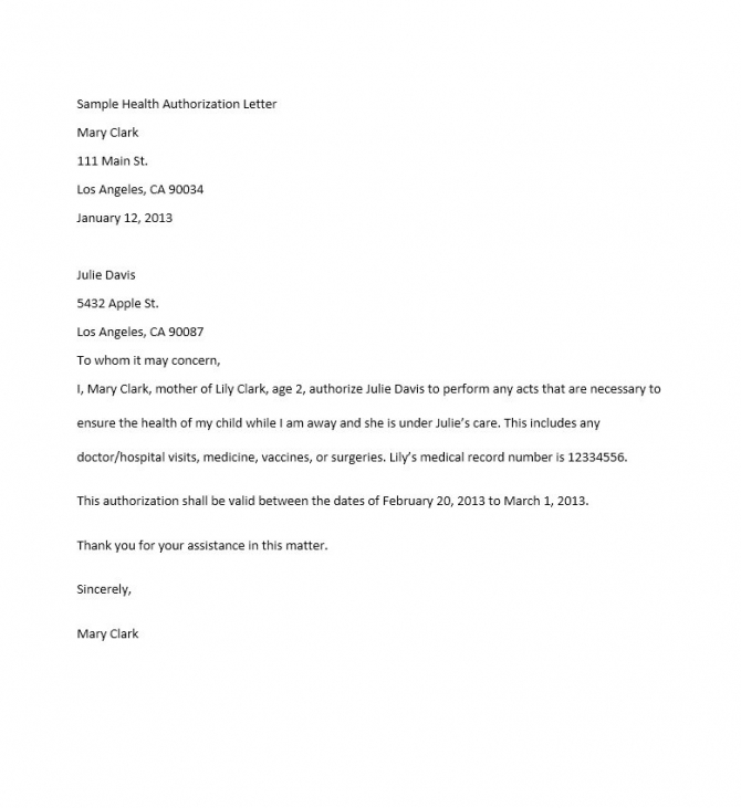 Authorization Letter Samples   Templates Free Download