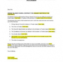 Contract Award Letter
