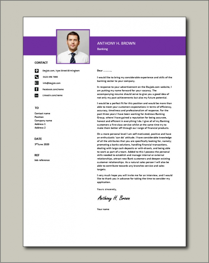 Banking Cover Letter Example  Template  Sample  Banks  Financial