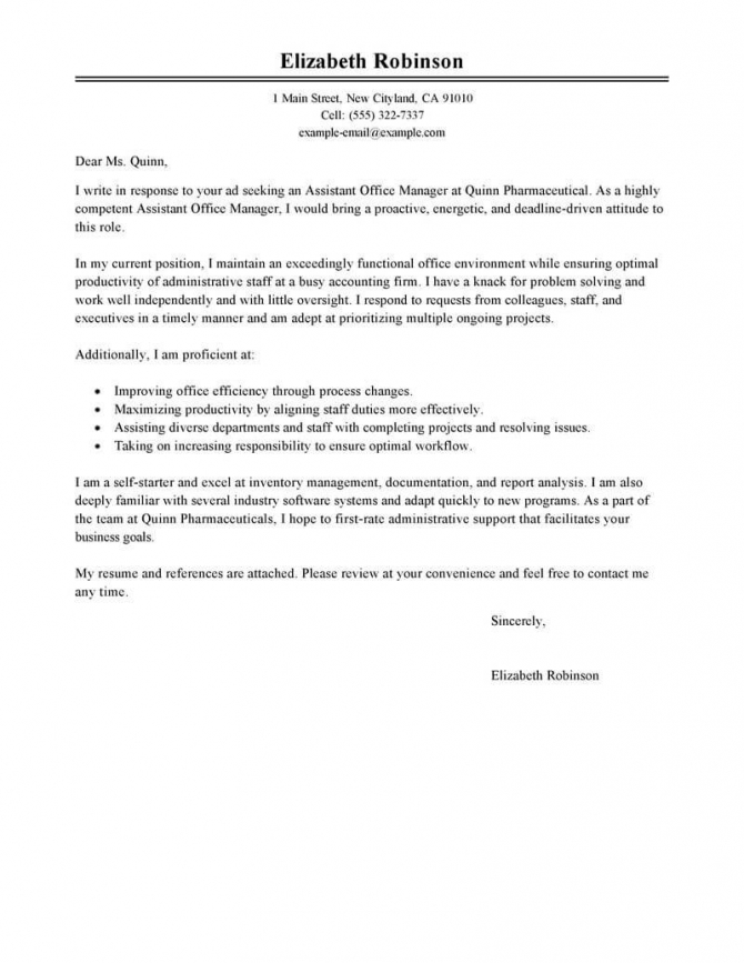 Best Administrative Cover Letter Examples