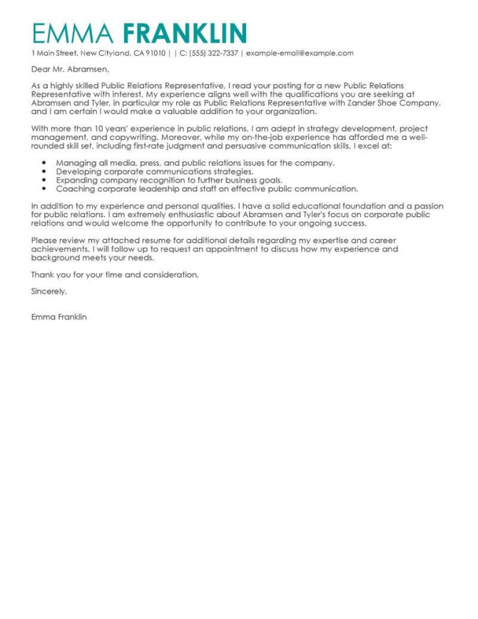 Best Business Cover Letter Examples