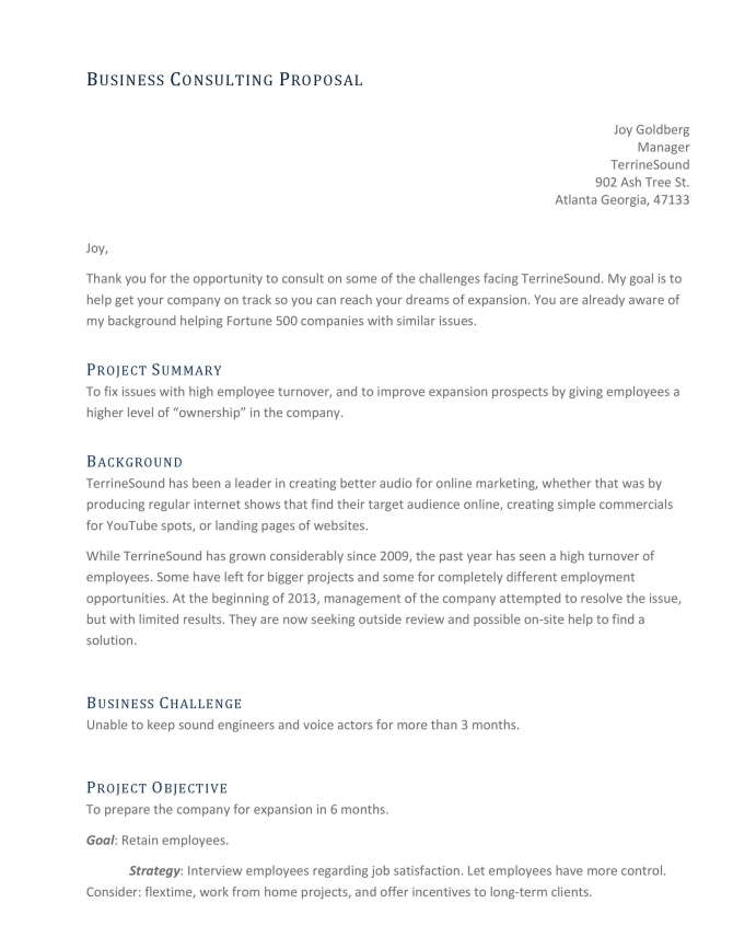 Best Consulting Proposal Templates Free  Templatelab
