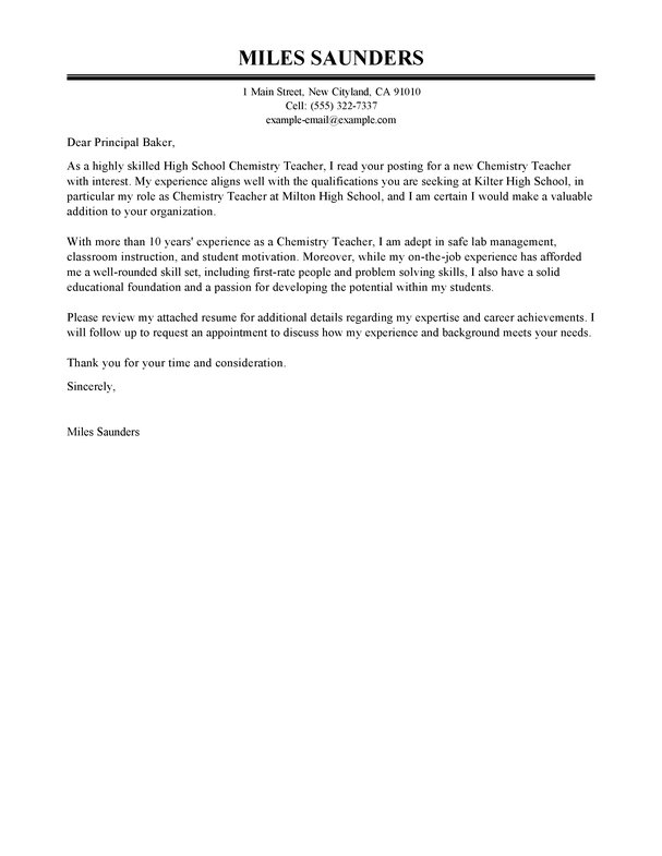Best Education Cover Letter Examples