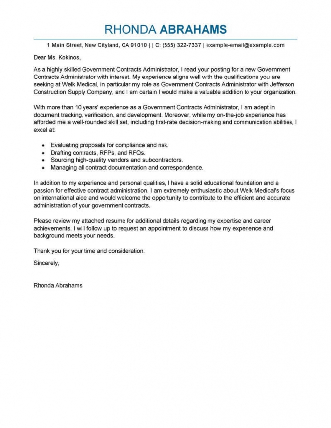 Best Government   Military Cover Letter Examples