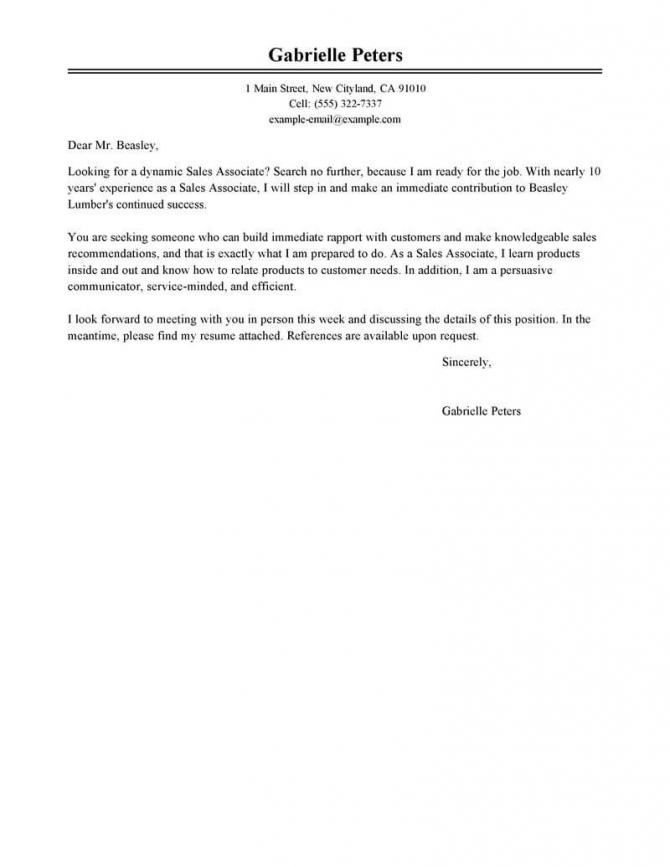 Best Sales Cover Letter Examples