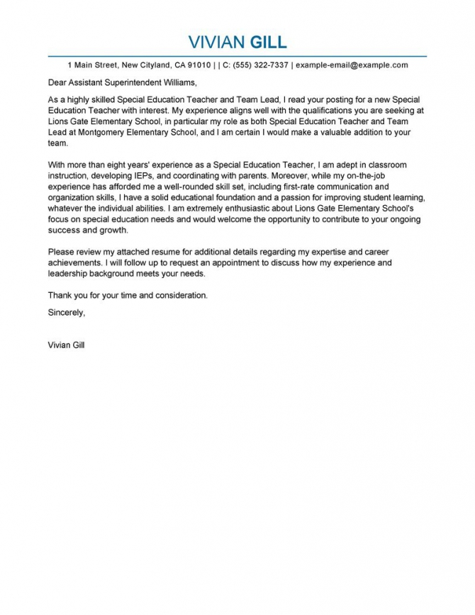 Best Team Lead Cover Letter Examples
