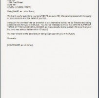 Bid Proposal Rejection Letter