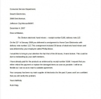Simple Customer Service Complaint Letter