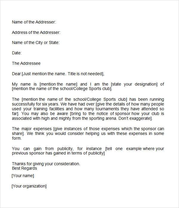 By Sponsorship Letter Format