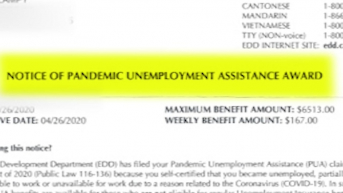 California Unemployment Woman Gets Edd Letters Awarding And