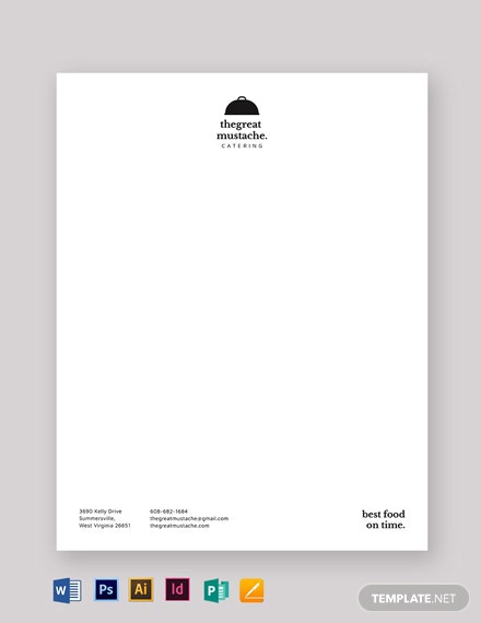 Catering Letterhead Template