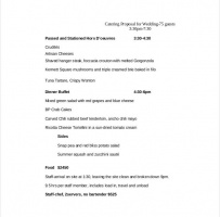 Wedding Catering Proposal Letter