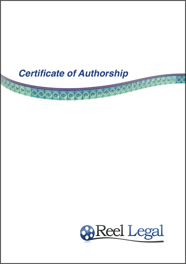 Certificate Of Authorship