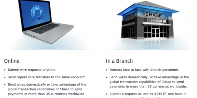 Chase Bank Wire Transfers How To Send  Fees  Routing Numbers