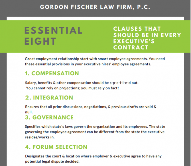 Clauses That Should Be In Every Executives Employee Agreement