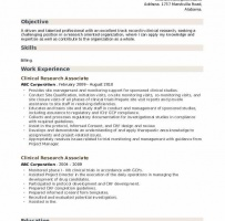 Contract Clinical Research Associate Cover Letter
